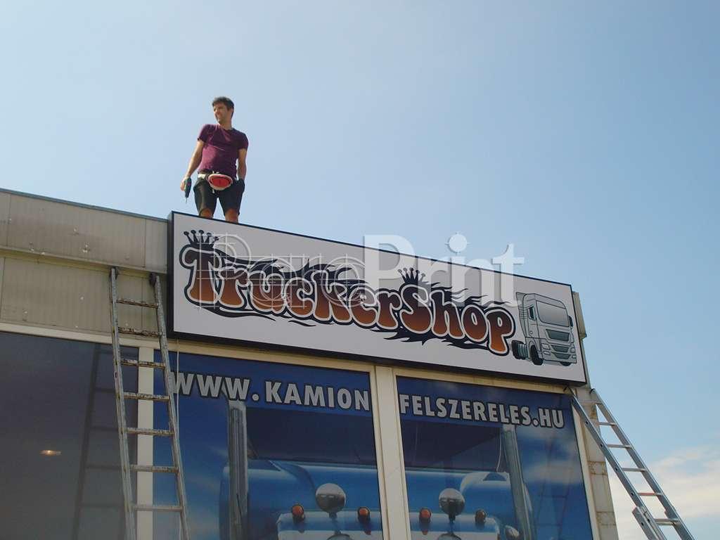Világító reklám - TruckerShop